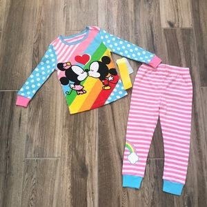 NEW Disney Store Minnie & Mickey Pajamas 3T